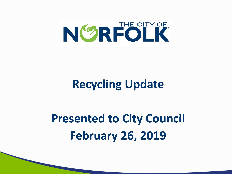 Norfolk Recycling Survey