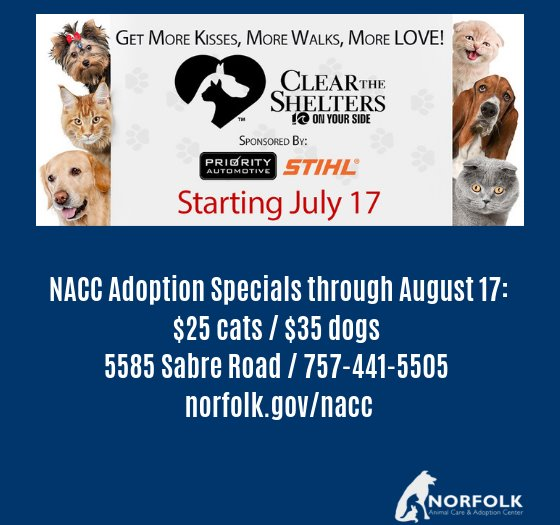 NACC Clear the Shelters Adoption Specials