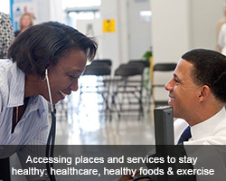 Accessing places and services to stay healthy