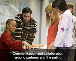 Communication and collaboration among partners and the public