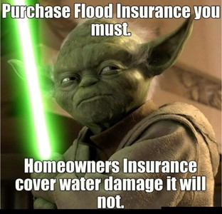 Purchase Flood Insurance you must Homeowner insurance cover water damage it will not