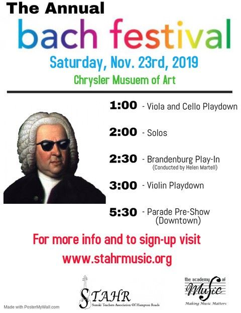 Bach Festival 2019  a classical portrait of the composure in a white, curled wig and sunglasses
