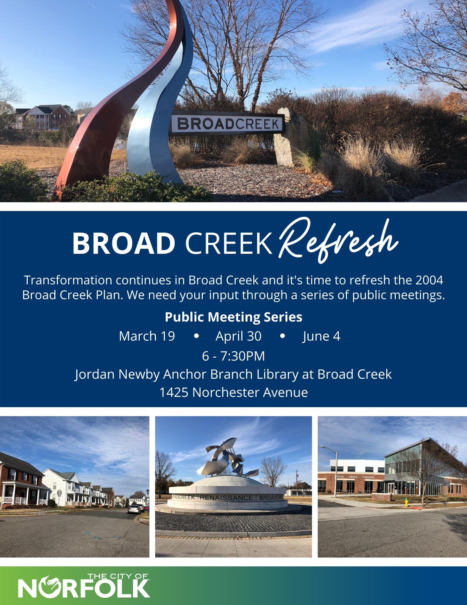 Broad Creek public meeting flyer