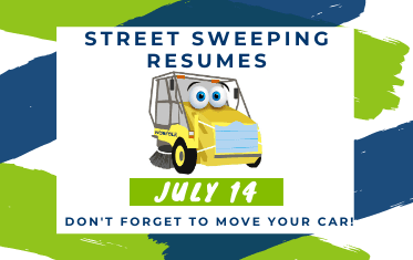 Street sweeping resumes