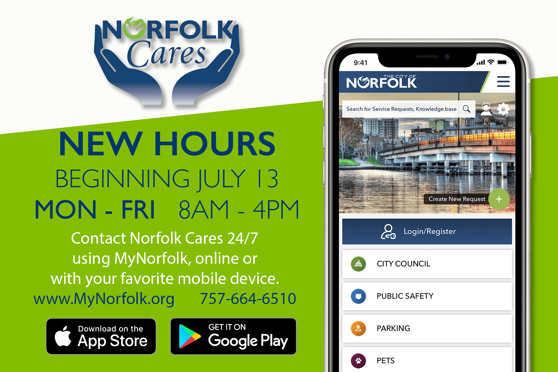 New Norfolk Cares Hours
