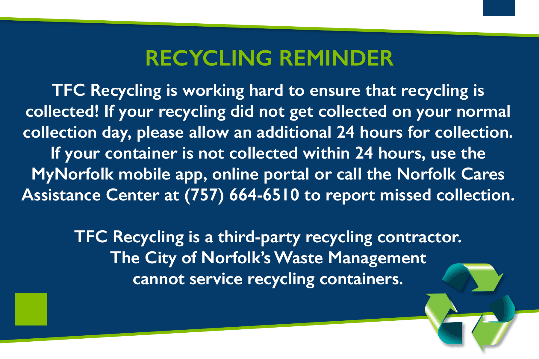 Recycling Reminder Image Link