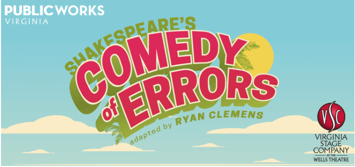 Graphic rendition of the title Comedy of Errors
