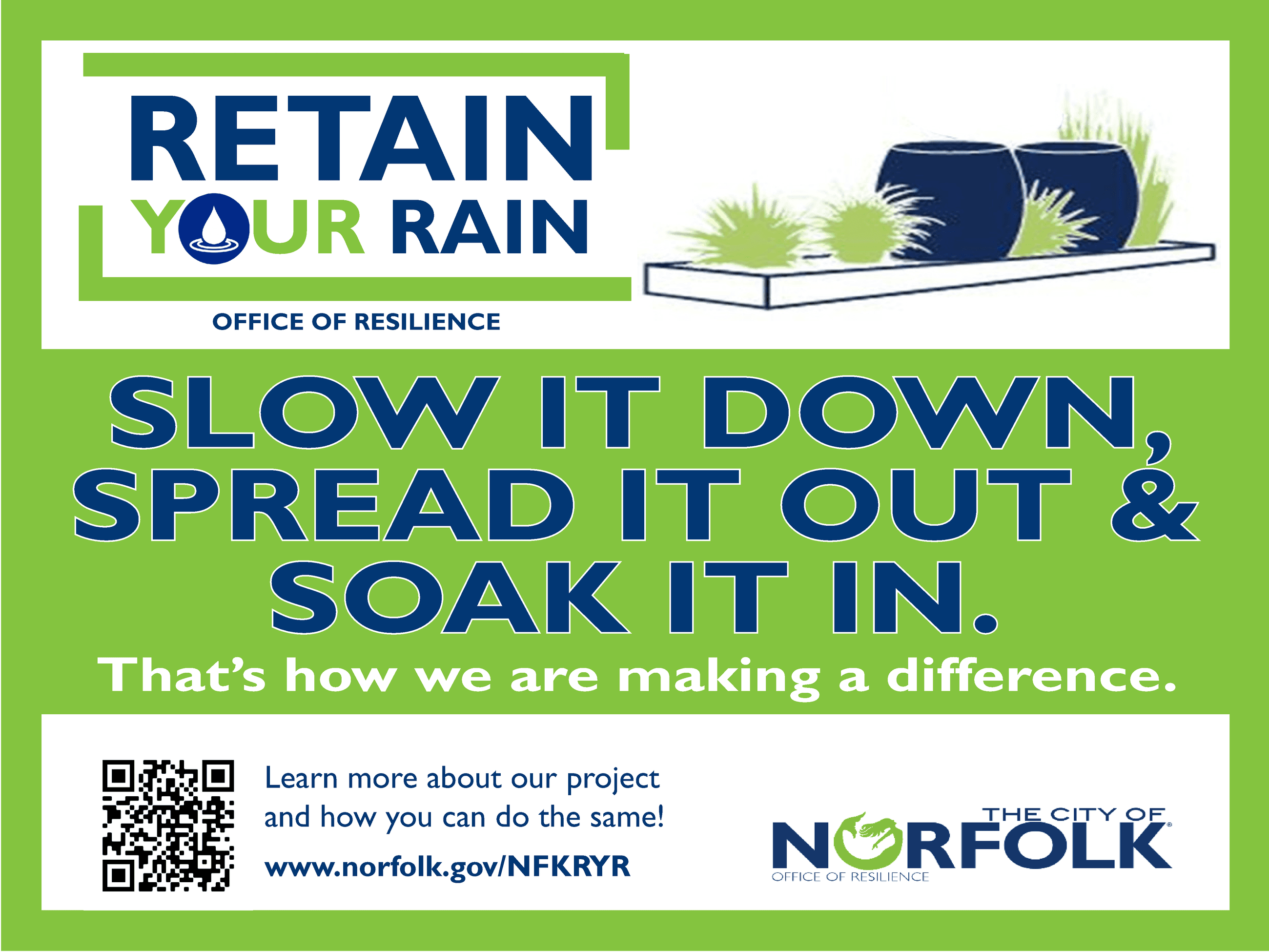 Retain Your Rain Projects Yard Signs