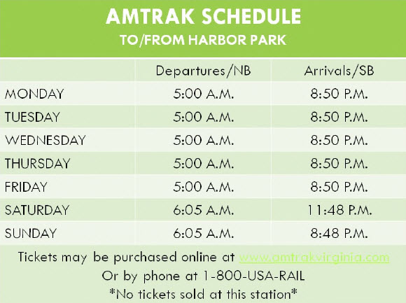 Amtrak Schedule for Norfolk