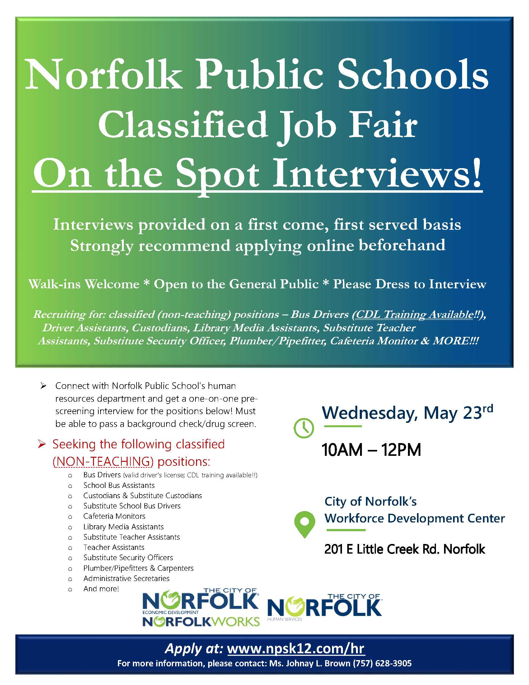 Chesapeake Public Schools Jobs
