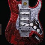 guitar with artwork