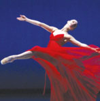 dancer in red dress