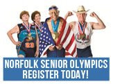 Register today for the Norfolk Senior Olympics, May 11-14, 2015