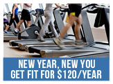 New Year, New You - Get Fit for 120 dollars Per Year