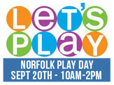 Join us for Norfolk Play Day, Sat, Sept 20th, 10am-2pm at Tarrellton Park