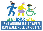 2nd Annual Run Walk Roll 5K, Saturday, October 17 9am
