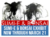 Sumi-E and Bonsai Exhibit, Now through March 21,, Paul Street Gallery, 7545 Diven St.