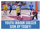 Sign up today for youth indoor soccer