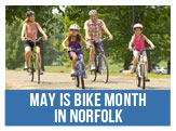 May is Bike Month in Norfolk, First Ride May 4th