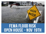 FEMA Flood Risk Open House, November 19th  from 4-8pm at Scope