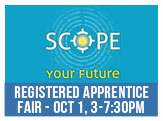 Scope Your Future at this Registered Apprentice Job Fair, October 1, 3-7.30pm at Scope Arena