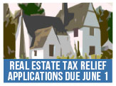Real Estate Tax Relief or Deferral Applications due June 1