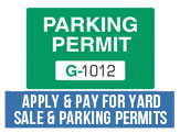 Parking and Yard Sale Permits