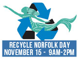 RecycleNorfolk Day, November 15 from 9am-2pm 1176 Pineridge Road