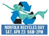 Norfolk Recycles Day, Sat April 23, 9am-2pm