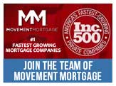 Work for Movement Mortgage, Inc. 500 fastest growing mortgage company