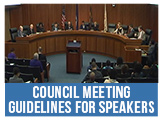 Council Meeting Guidelines for Speakers