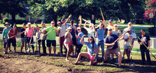 NEL Interns Construct the Regain Rain Garden