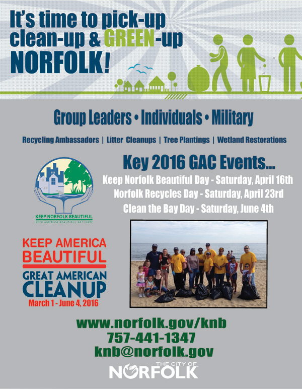 2016 Great American Cleanup poster