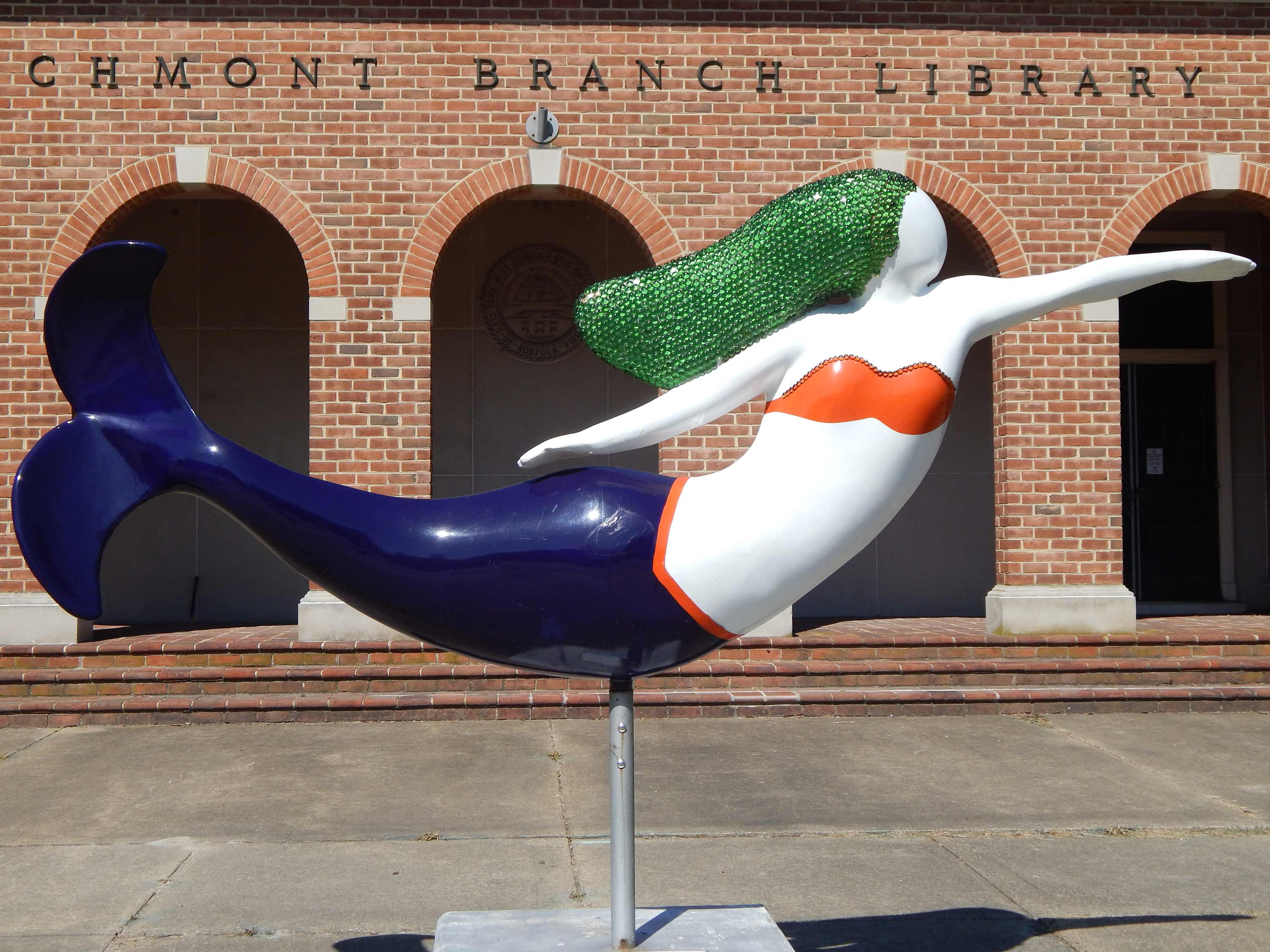 Larchmont Branch Library Mermaid