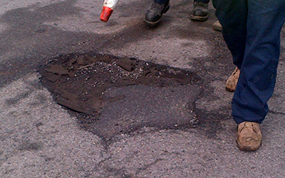 Locating Pothole